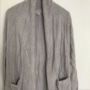 Barefoot dreams gray cozy cardigan